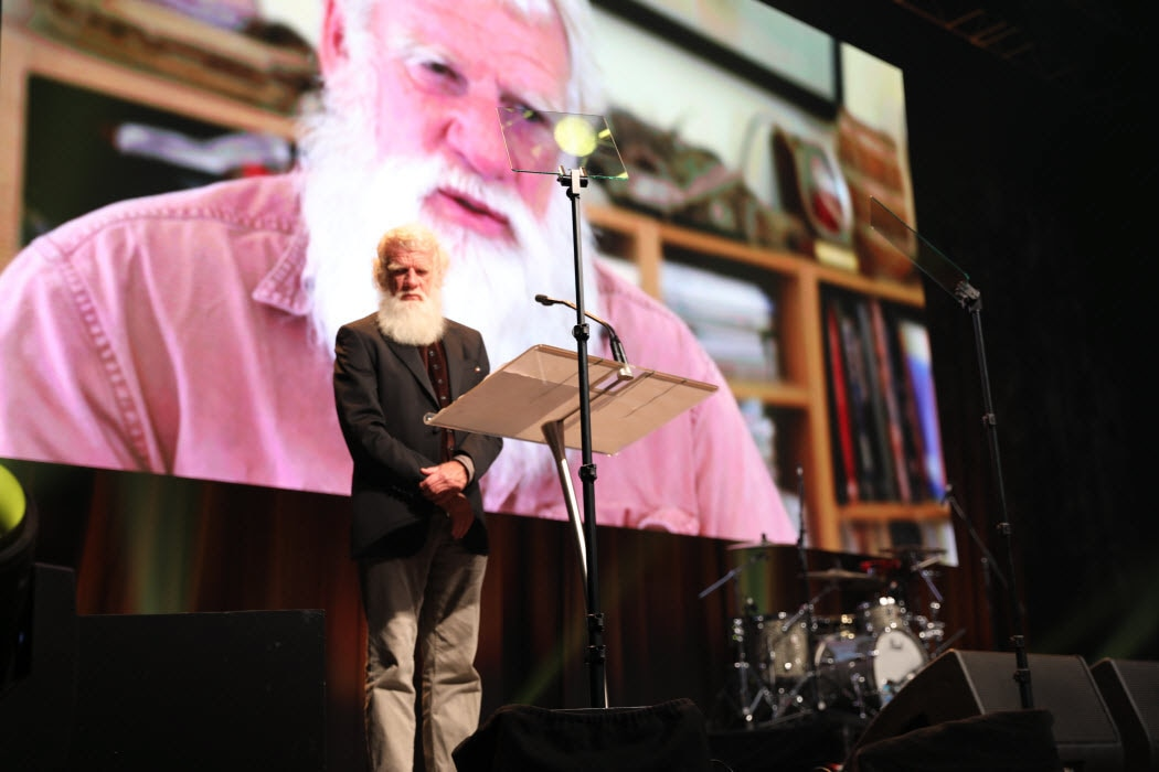 Bruce Pascoe at the Dreamtime Awards in 2018.