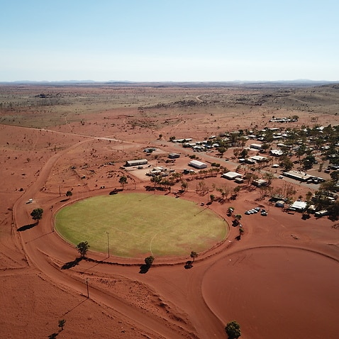 The new grass community oval at Amata is uniting the desert town.