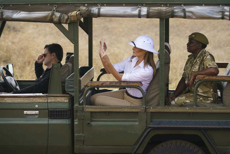 Melania Trump feeds baby elephants and goes on safari in Kenya - Ireland
