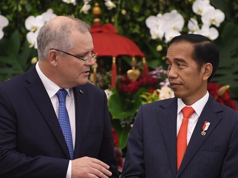 Scott Morrison with Indonesian leader Joko Widodo.