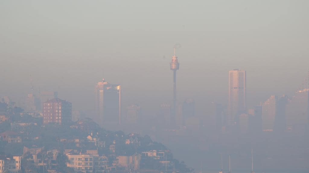 Sydney is blanketed by a thick layer of hazardous smoke.