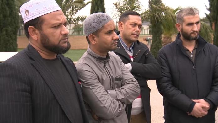 Members of the Muslim community pay tribute to Sheikh Abdel Aziem Al-Afifi.