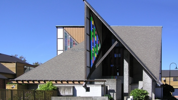 In Futuna Chapel, John Scott employed a composite language that references a number of different architectural traditions.