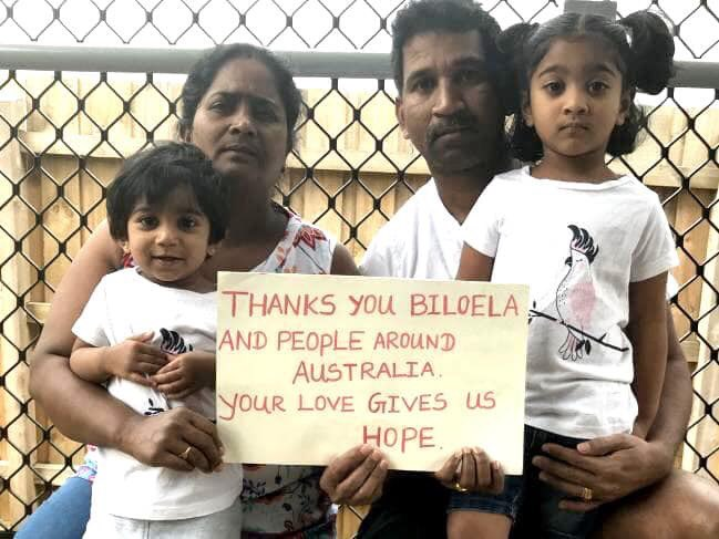 The Tamil family are being held on Christmas Island.