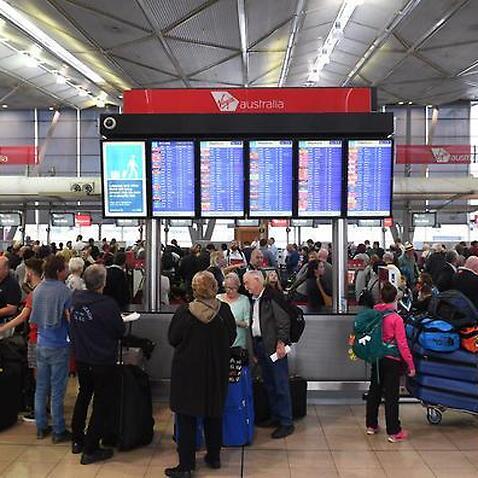 Sydney airport queues