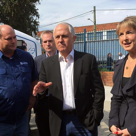 Thủ tướng Malcolm Turbull và Tổng trưởng Nhân dụng Michaelia Cash