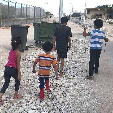 Kids on Nauru.