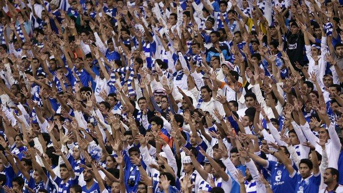 Saudi Arabia's Al Hilal's fans cheer before the Asian Champions League Final second leg soccer match between Al Hilal and Western Sydney Wanderers at King Fahd stadium in Riyadh, Saudi Arabia, Saturday, Nov. 1, 2014. (AP Photo)