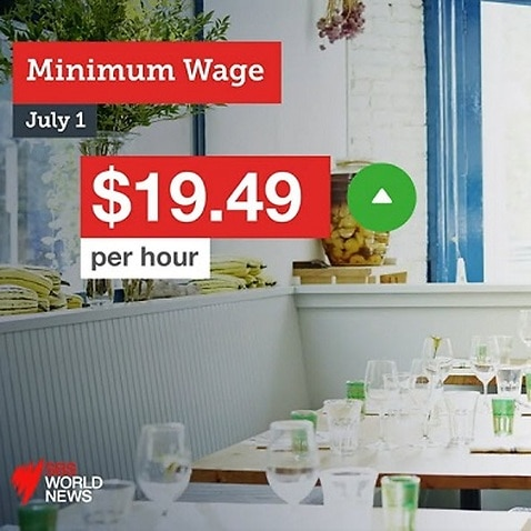 The Fair Work Commission has decided on a 3 per cent increase in the national minimum wage from 1 July.
