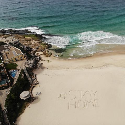 An empty Tamarama Beach in Sydney.