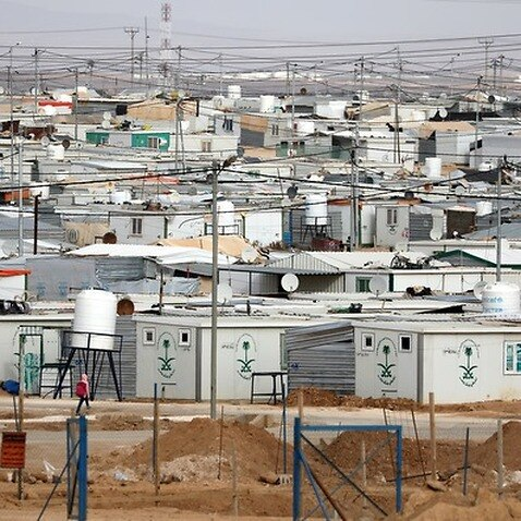 The Zaatari refugee camp, Jordan
