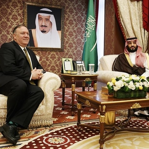 US Secretary of State Mike Pompeo and Crown Prince Mohammed bin Salman