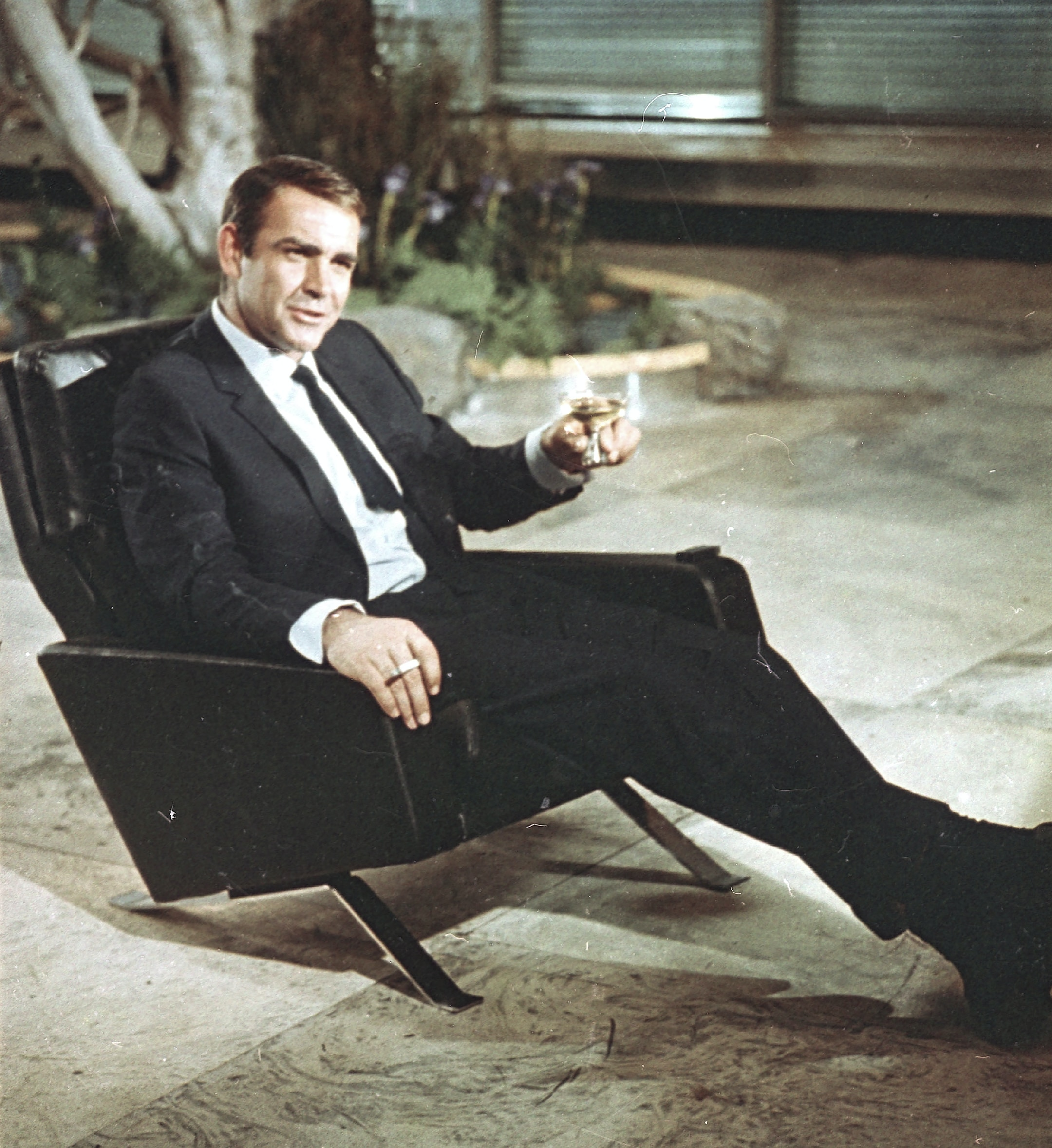 """Sean Connery pictured during filming the James Bond movie """"You Only Live Twice"""" on location in Tokyo, Japan on 29 July 1966."""