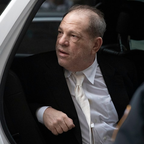 Harvey Weinstein leaves the Manhattan courthouse after a day in  his trial on rape and sexual assault charges.