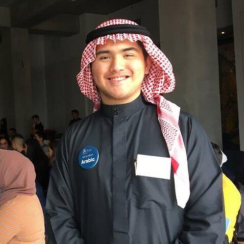 NLC19 Indonesian student studying Arabic