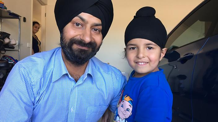 Sagardeep Singh Arora and his son Sidhak.