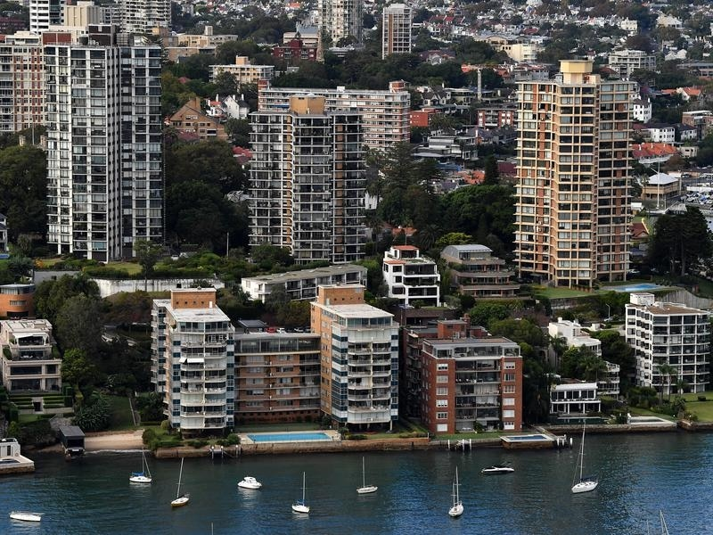 Waterfront properties in Darling Point, Sydney.