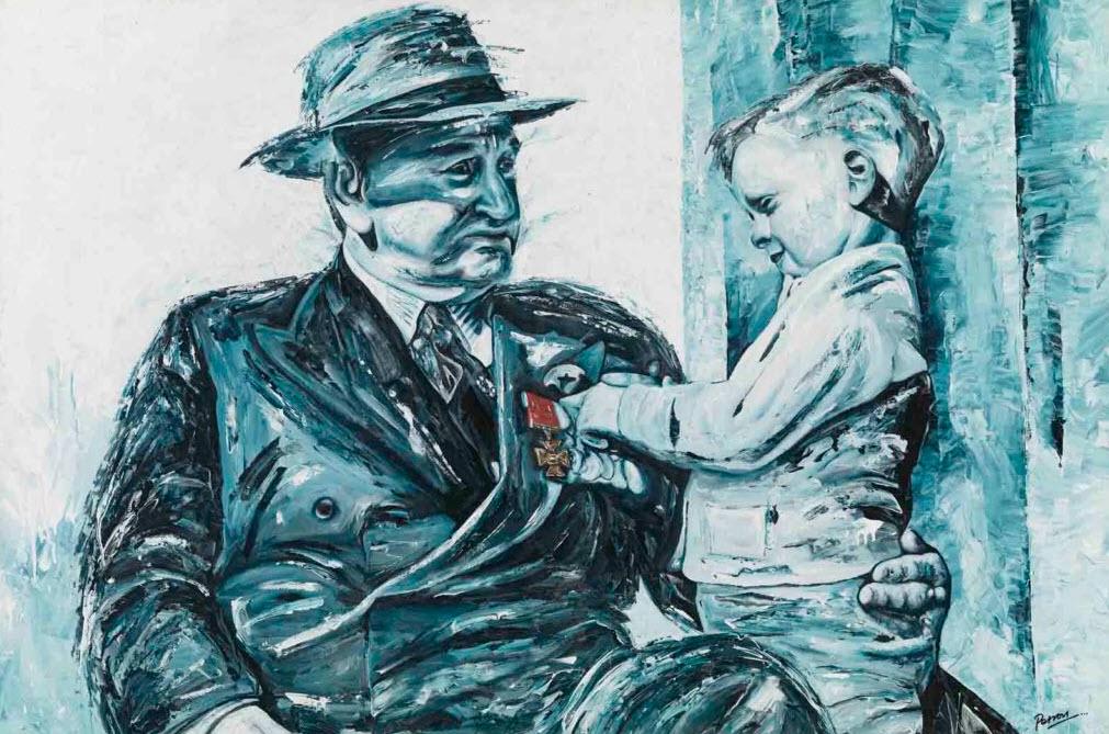 George Petrou's depiction of Victoria Cross recipient Dominic McCarthy.