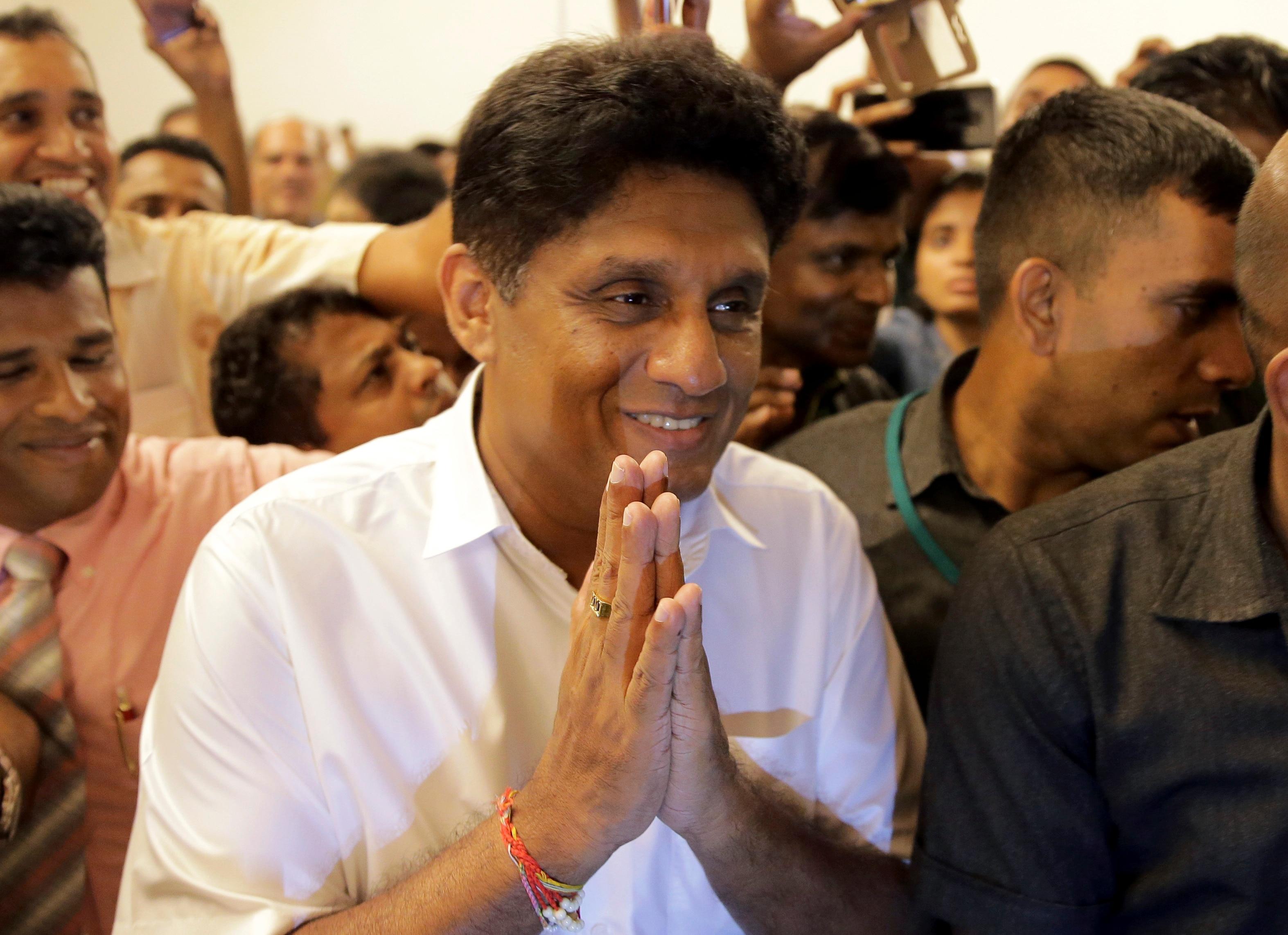Gotabaya Rajapaska's main opponent, Sajith Premadasa.