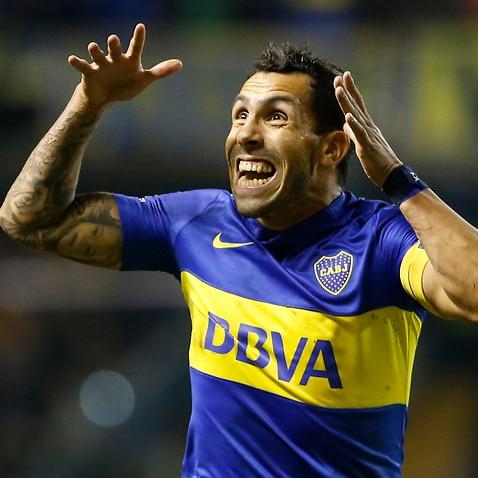 Carlos Tevez Boca Juniors Deportivo Cali Copa Libertadores