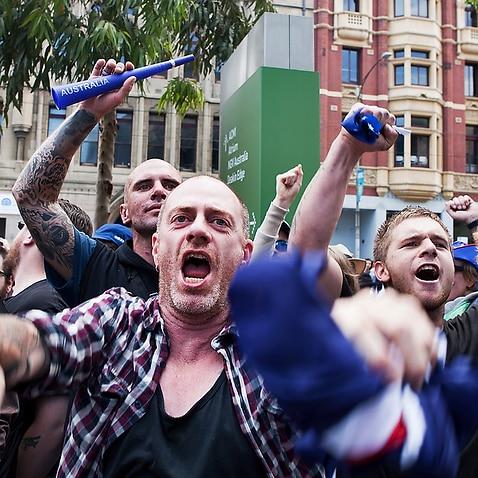 กลุ่มขวาจัดในออสเตรเลียที่ต่อต้านผู้อพยพย้ายถิ่น (SBS)