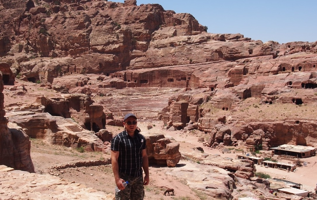 Christopher Elwell during his time in Petra, Jordan.