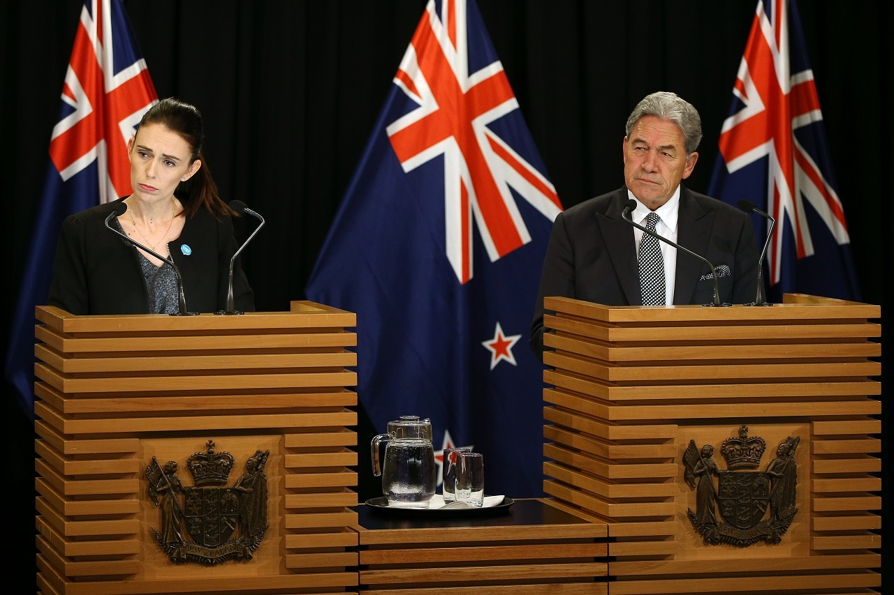 Prime Minister Jacinda Ardern and Deputy Prime Minister Winston Peters.