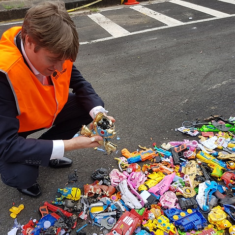 Tom Godfrey from CHOICE examines dangerous toys that were crushed