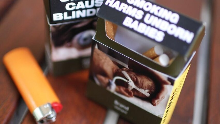 Cigarette packaging warning of two health conditions