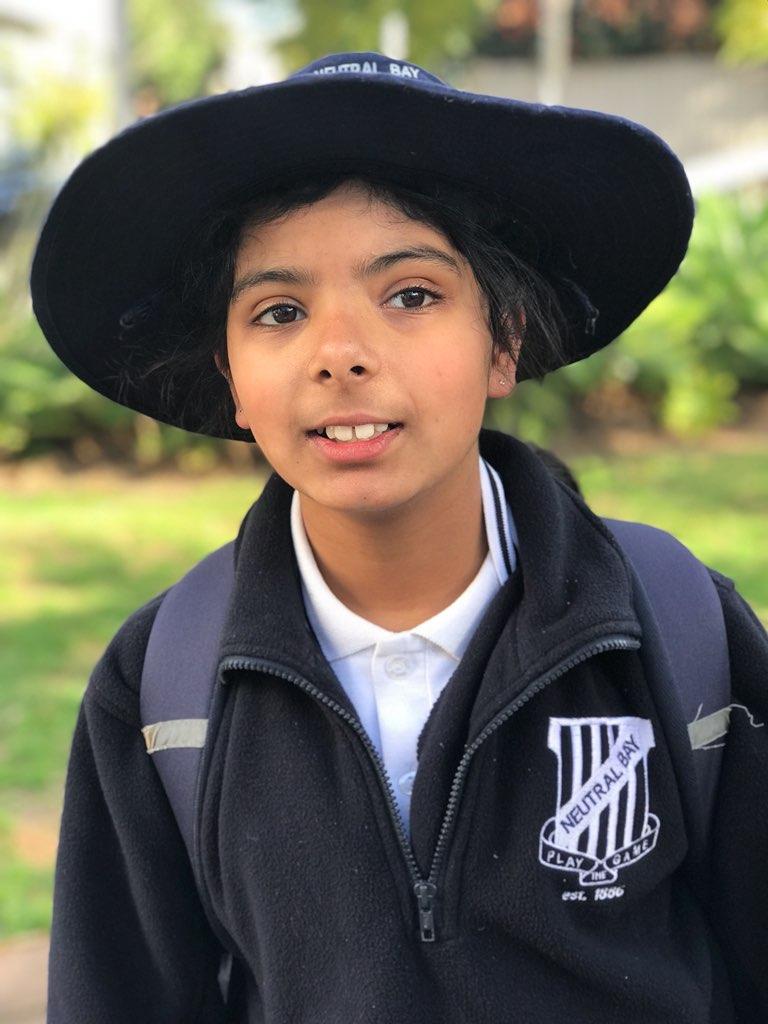 Shree Parajuli in her school uniform