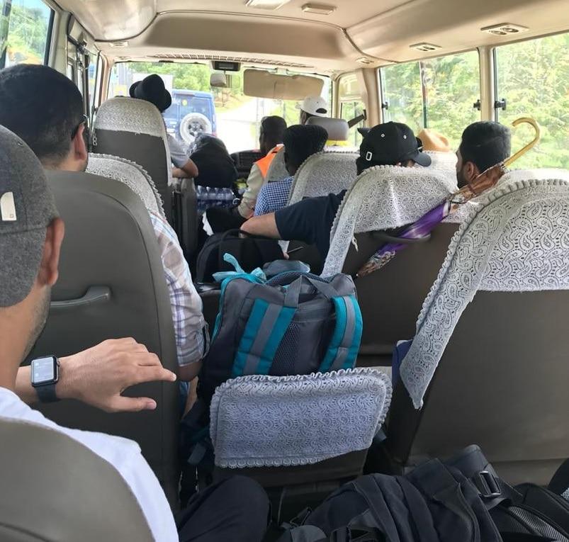 Asylum seekers being transferred from Manus Island.