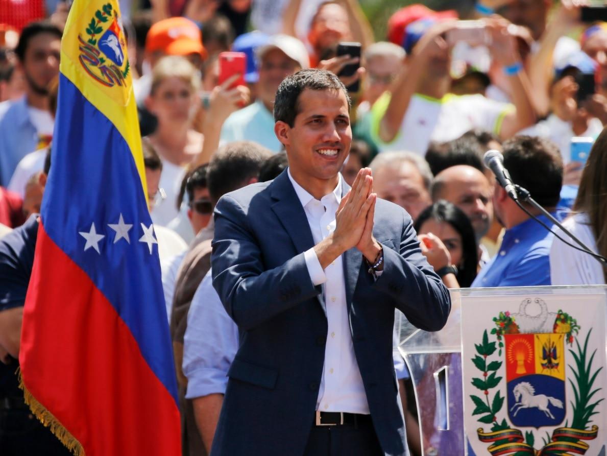 Venezuelan opposition leader Juan Guaido, who has declared himself the interim president of Venezuela