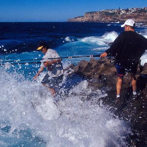 Rock fishing in Sydney.