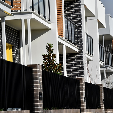 New residential properties seen in Blacktown, Sydney, Monday, Aug. 14, 2017. (AAP Image/Joel Carrett) NO ARCHIVING