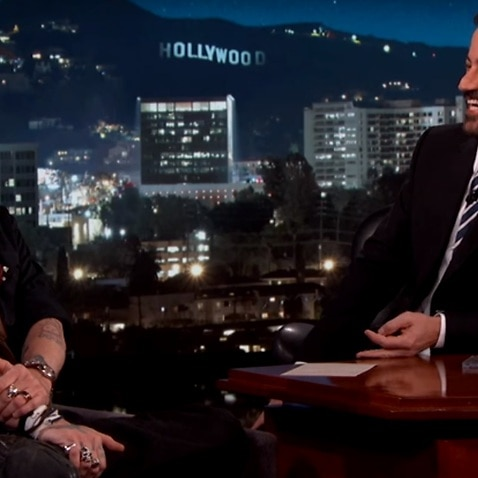 Johnny Depp appeared on Jimmy Kimmel Live