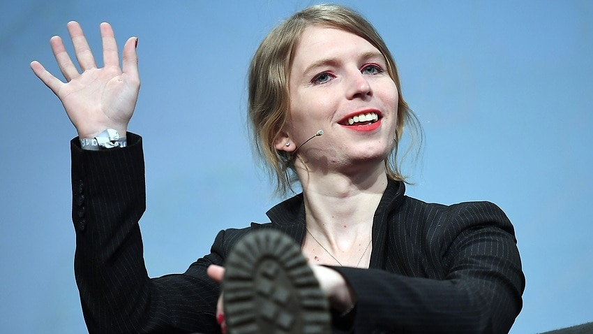 Image for read more article 'Chelsea Manning calls visit ban a 'political decision''