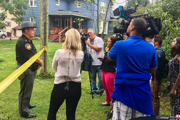 The unoccupied home of an interracial couple in Ohio exploded early on Wednesday