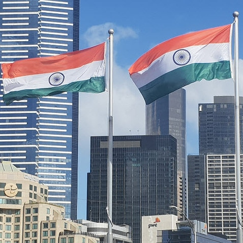 Indian flag hoisted at Federation Square in Melbourne
