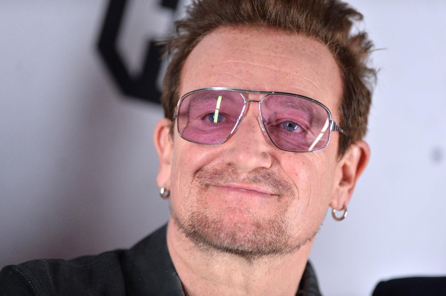 Irish rock star and activist Bono